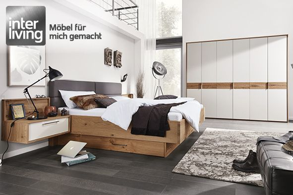 Interliving 1002 Schlafzimmer Lack Sand Balkeneiche ...