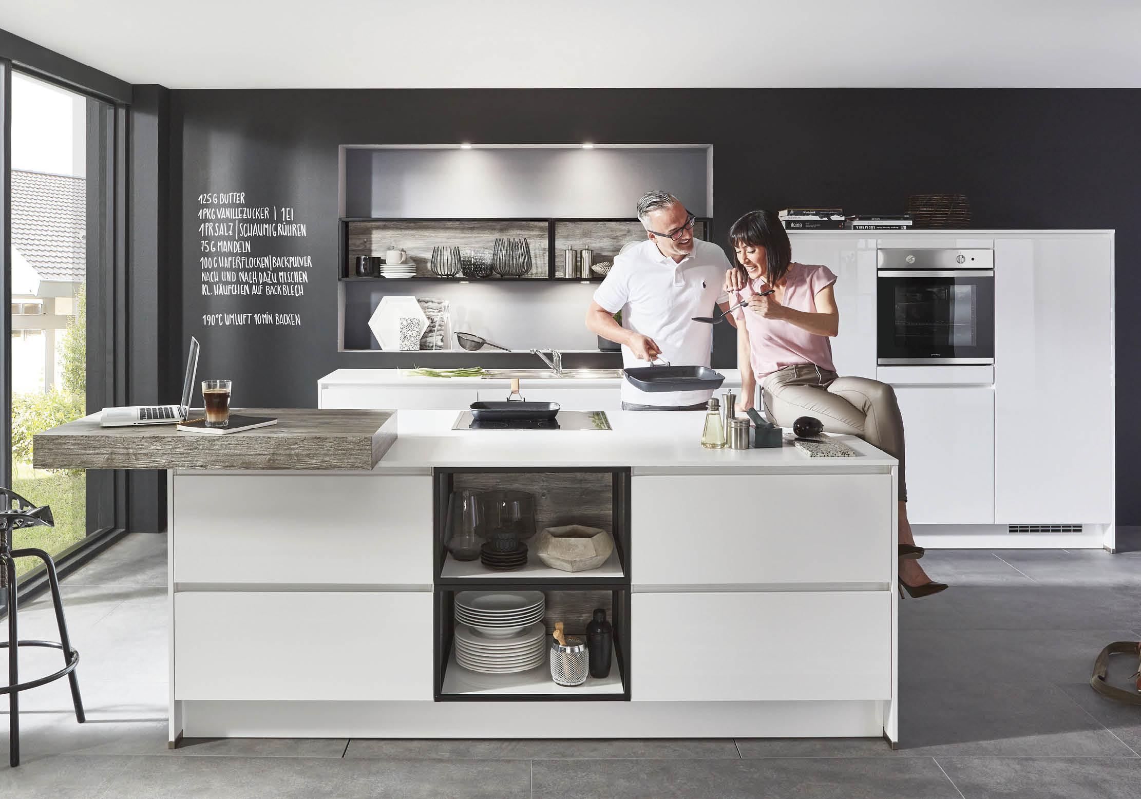 nobilia k che holz wei steinboden k che diy ikea skandinavisch modern planen online. Black Bedroom Furniture Sets. Home Design Ideas